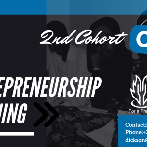 New Entrepreneurship Training 2nd Cohort  FREE